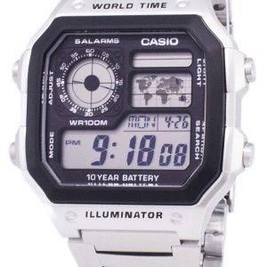 Casio Digital World Time WR100M AE-1200WHD-1AVDF AE-1200WHD-1AV Mens Watch