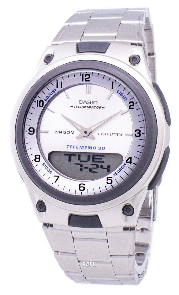 Casio Analog Digital Telememo Illuminator AW-80D-7AVDF AW-80D-7AV Mens Watch