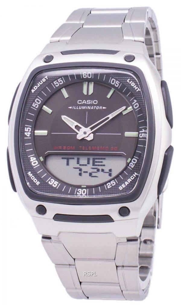 Casio Analog Digital Telememo Illuminator AW-81D-1AVDF AW-81D-1AV Mens Watch