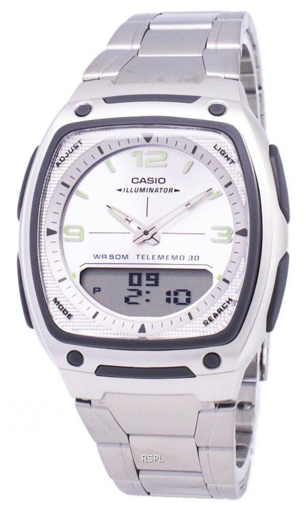 Casio Analog Digital Telememo Illuminator AW-81D-7AVDF AW-81D-7AV Mens Watch