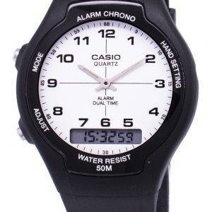 Casio Analog Digital Dual Time AW-90H-7BVDF AW-90H-7BV Mens Watch