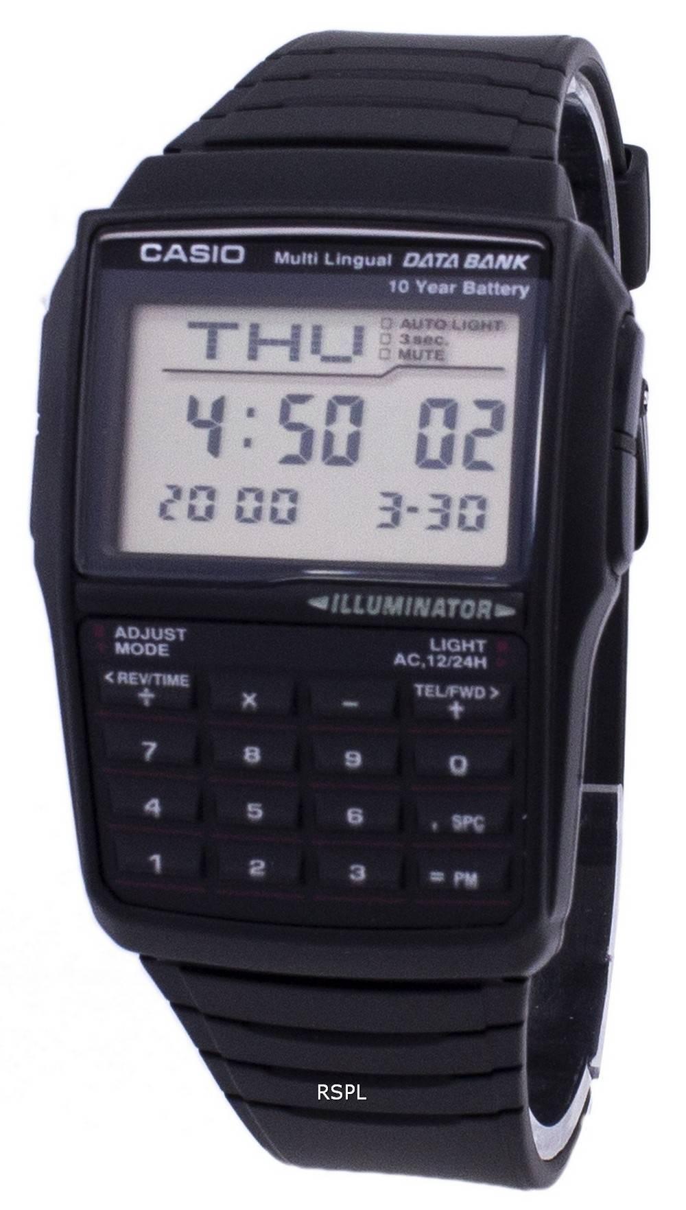 bd37ba47ac0 Casio Digital Data Bank 5 Alarm Multi-Lingual DBC-32-1ADF .