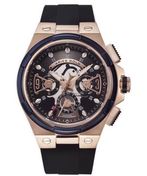 Aries Gold Inspire Lightning Quartz G 7003 2TRB-BKRG Men's Watch