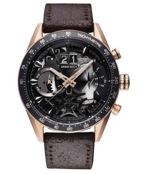 Aries Gold Inspire Jolter Quartz G 7008 RG-BK Men's Watch
