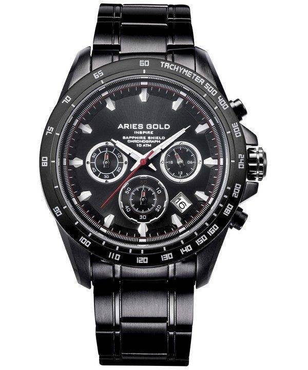 Aries Gold Inspire Drifter Chronograph Quartz G 7001 BK-BK Men's Watch