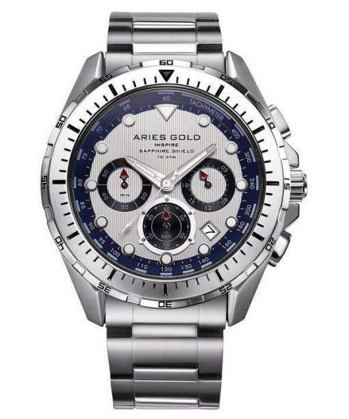 Aries Gold Inspire Atlantic Chronograph Quartz G 7002 S-S Men's Watch