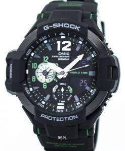 Casio G-Shock GRAVITYMASTER Twin Sensor World Time GA-1100-1A3 Mens Watch