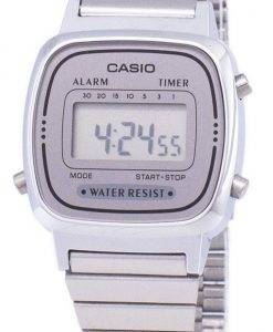 Casio Digital Stainless Steel Alarm Timer LA670WA-7DF LA670WA-7 Womens Watch