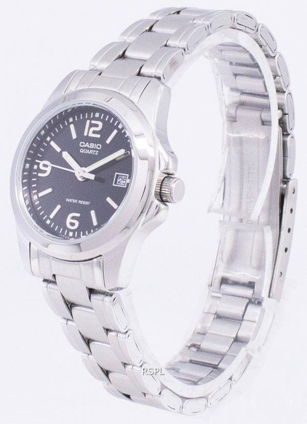 Casio Analog Quartz Black Dial LTP-1215A-1ADF LTP-1215A-1A Womens Watch