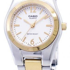 Casio Enticer Analog Quartz White Dial LTP-1253SG-7ADF LTP-1253SG-7A Womens Watch