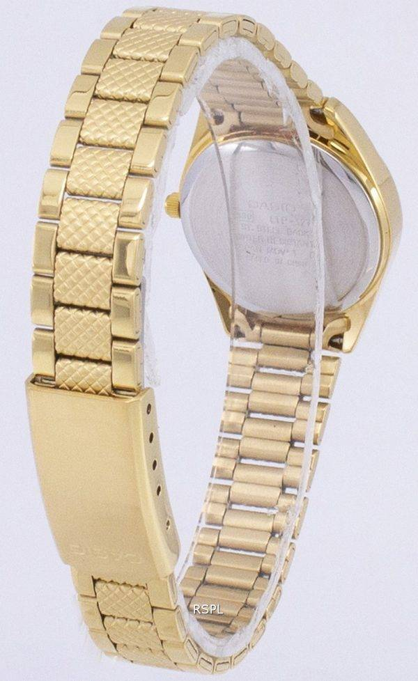 Casio Analog Quartz Gold Tone White Dial LTP-1274G-7ADF LTP-1274G-7A Womens Watch
