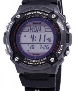 Casio Digital Tough Solar 5 Alarms Illuminator W-S200H-1BVDF Mens Watch