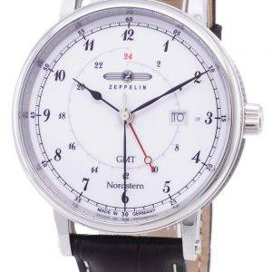 Zeppelin Series Nordstern GMT Germany Made 7546-1 75461 Men's Watch