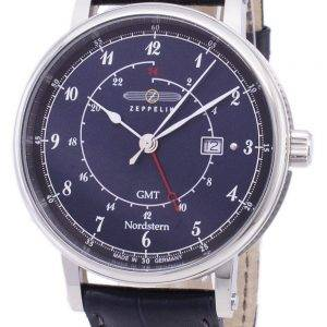 Zeppelin Series Nordstern GMT Germany Made 7546-3 75463 Men's Watch