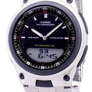 Casio Analog Digital Telememo Illuminator AW-80D-1AVDF AW-80D-1AV Mens Watch
