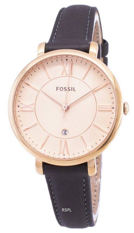 Fossil Jacqueline Quartz Gray Leather ES3707 Women's Watch