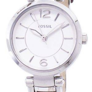Fossil Georgia Silver Dial Brown Leather ES3861 Womens Watch