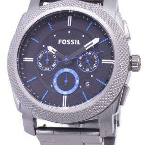 Fossil Machine Quartz Chronograph Black Dial Gunmetal Ion-Plated FS4931 Mens Watch
