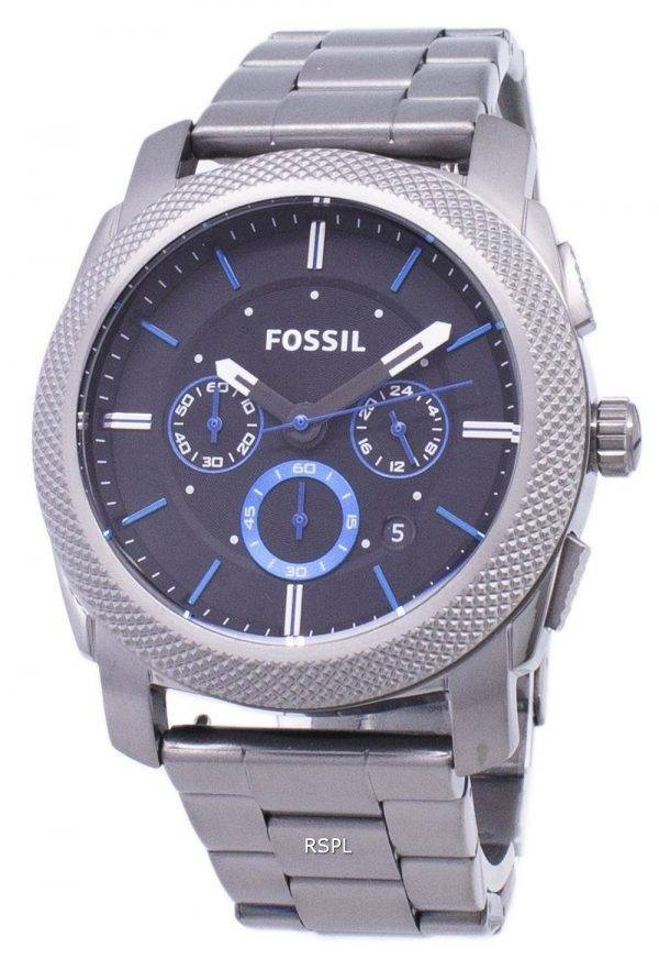 Fossil Machine Quartz Chronograph Black Dial Gunmetal Ion-Plated FS4931 Mens Watch