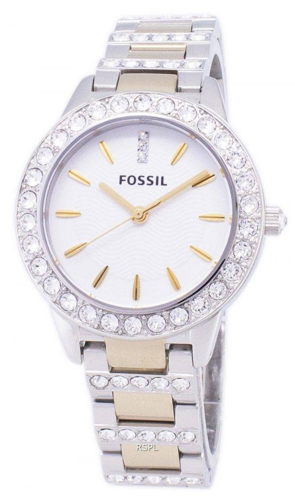 Fossil Jesse Crystal Two-tone Quartz ES2409 Womens Watch