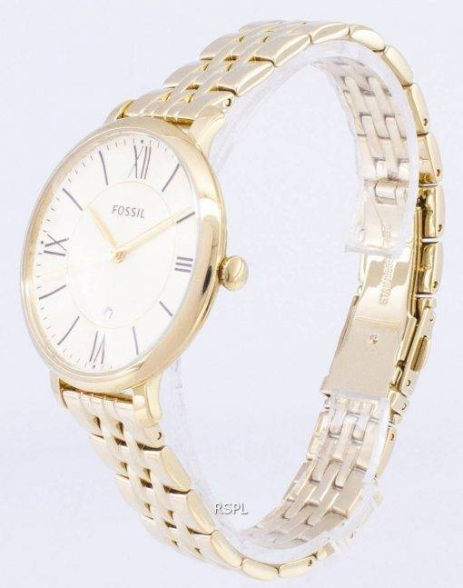 Fossil Jacqueline Champagne Dial Gold-Tone Stainless Steel ES3434 Womens Watch