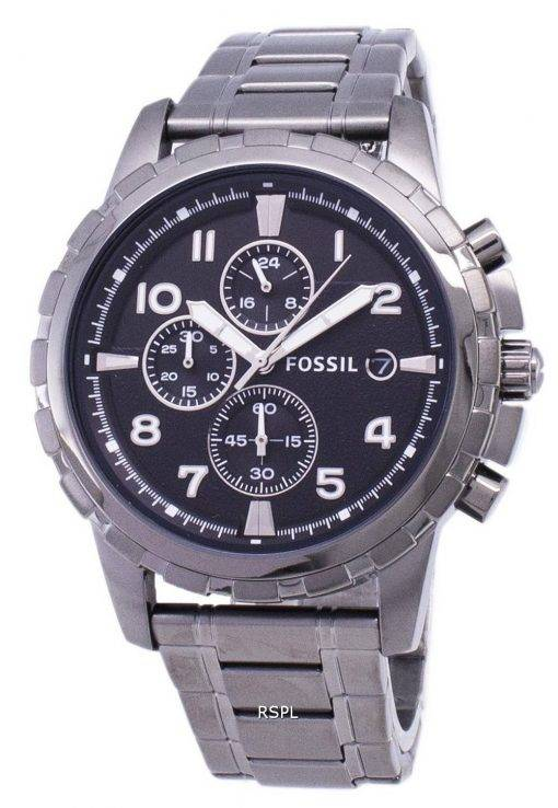 Fossil Dean Chronograph Smoke Grey Ion Plated FS4721 Mens Watch