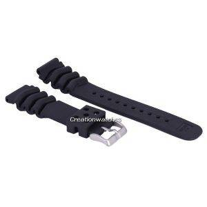 Black Rubber Strap 22mm