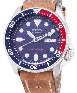 Seiko Automatic SKX009K1-LS17 Diver's 200M Brown Leather Strap Men's Watch