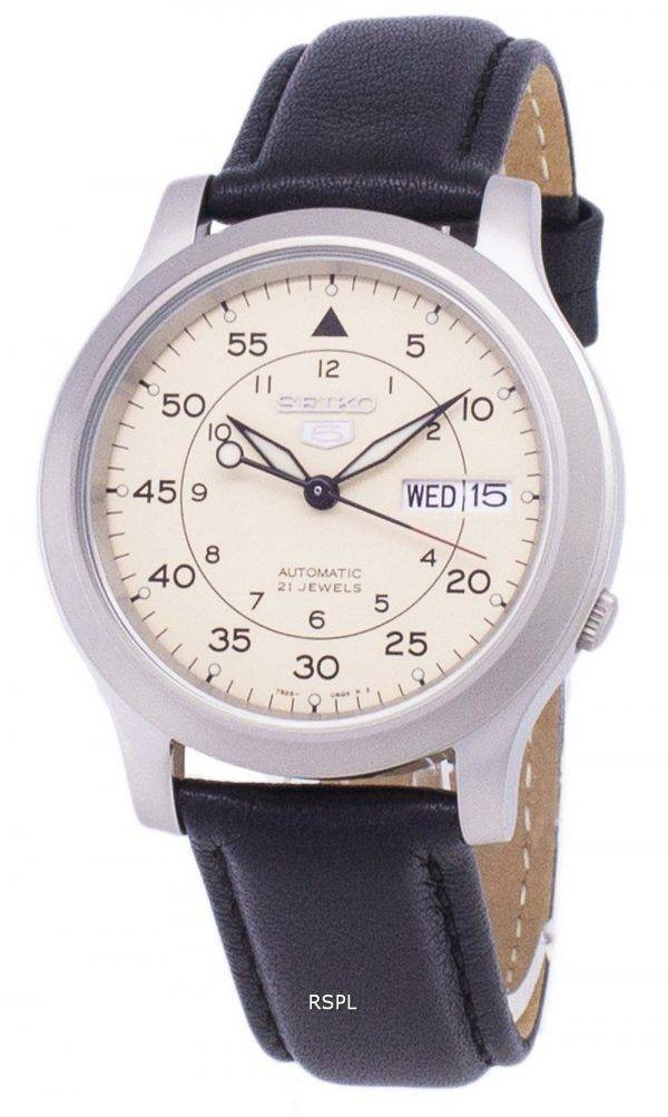 Seiko 5 Military SNK803K2-SS3 Automatic Black Leather Strap Men's Watch
