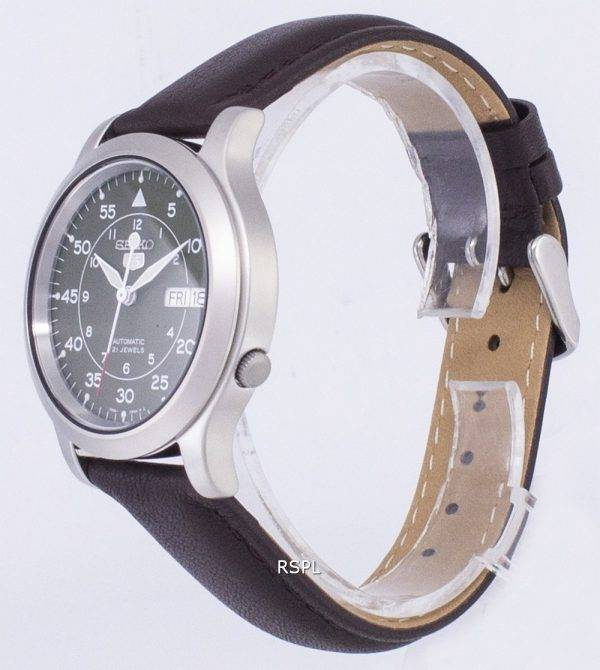 Seiko 5 Military SNK805K2-SS4 Automatic Brown Leather Strap Men's Watch
