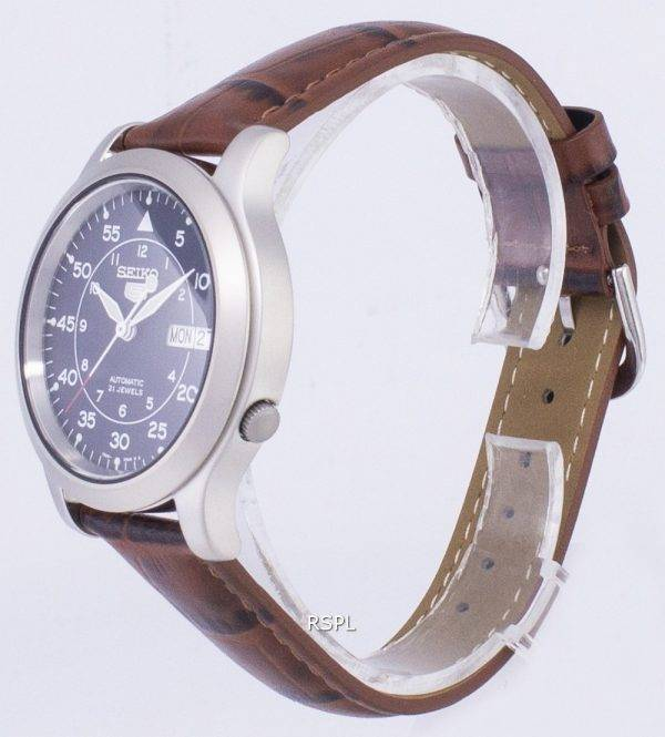 Seiko 5 Military SNK807K2-SS2 Automatic Brown Leather Strap Men's Watch