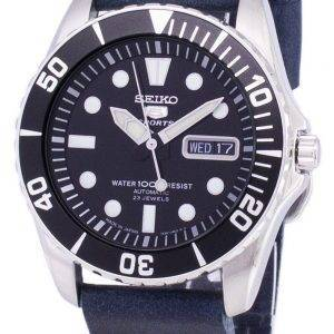 Seiko 5 Sports SNZF17J1-LS15 Automatic Dark Blue Leather Strap Men's Watch