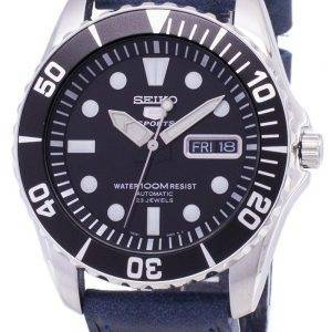 Seiko 5 Sports SNZF17K1-LS13 Automatic Dark Blue Leather Strap Men's Watch
