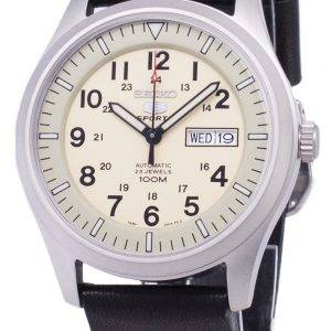 Seiko 5 Sports SNZG07K1-LS14 Automatic Black Leather Strap Men's Watch
