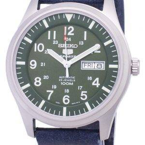 Seiko 5 Sports SNZG09K1-LS15 Automatic Dark Blue Leather Strap Men's Watch