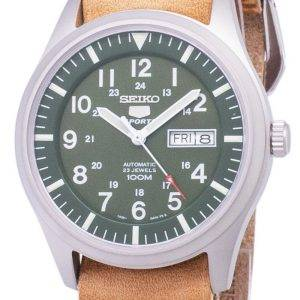 Seiko 5 Sports SNZG09K1-LS18 Automatic Brown Leather Strap Men's Watch