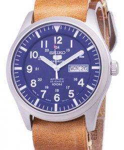 Seiko 5 Sports SNZG11J1-LS18 Automatic Brown Leather Strap Men's Watch