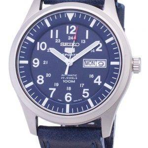 Seiko 5 Sports SNZG11K1-LS13 Automatic Dark Blue Leather Strap Men's Watch