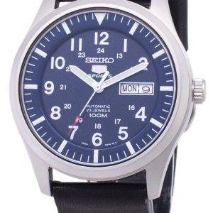 Seiko 5 Sports SNZG11K1-LS14 Automatic Black Leather Strap Men's Watch