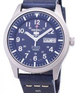 Seiko 5 Sports SNZG11K1-LS15 Automatic Dark Blue Leather Strap Men's Watch