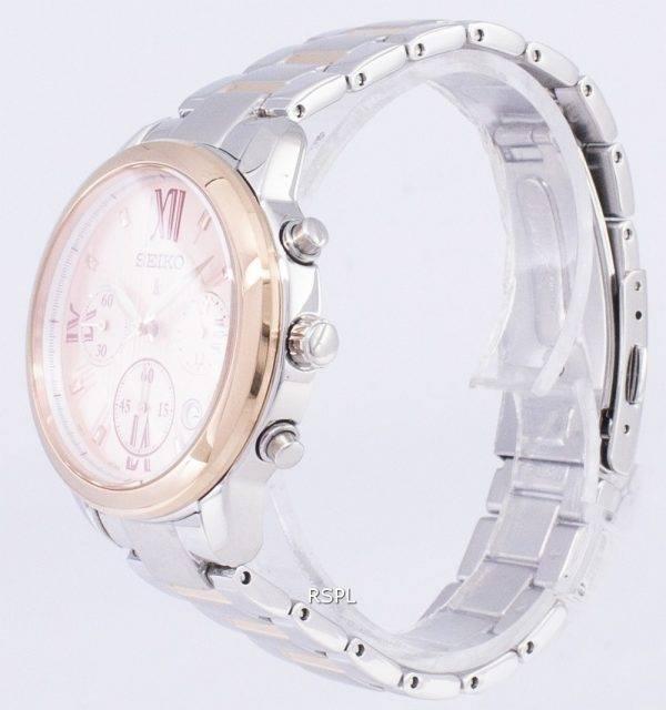 Seiko Lukia Chronograph Quartz SRWZ90 SRWZ90P1 SRWZ90P Women's Watch
