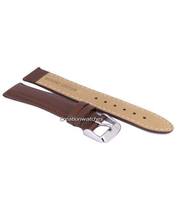 Brown Ratio Brand Leather Strap 18mm