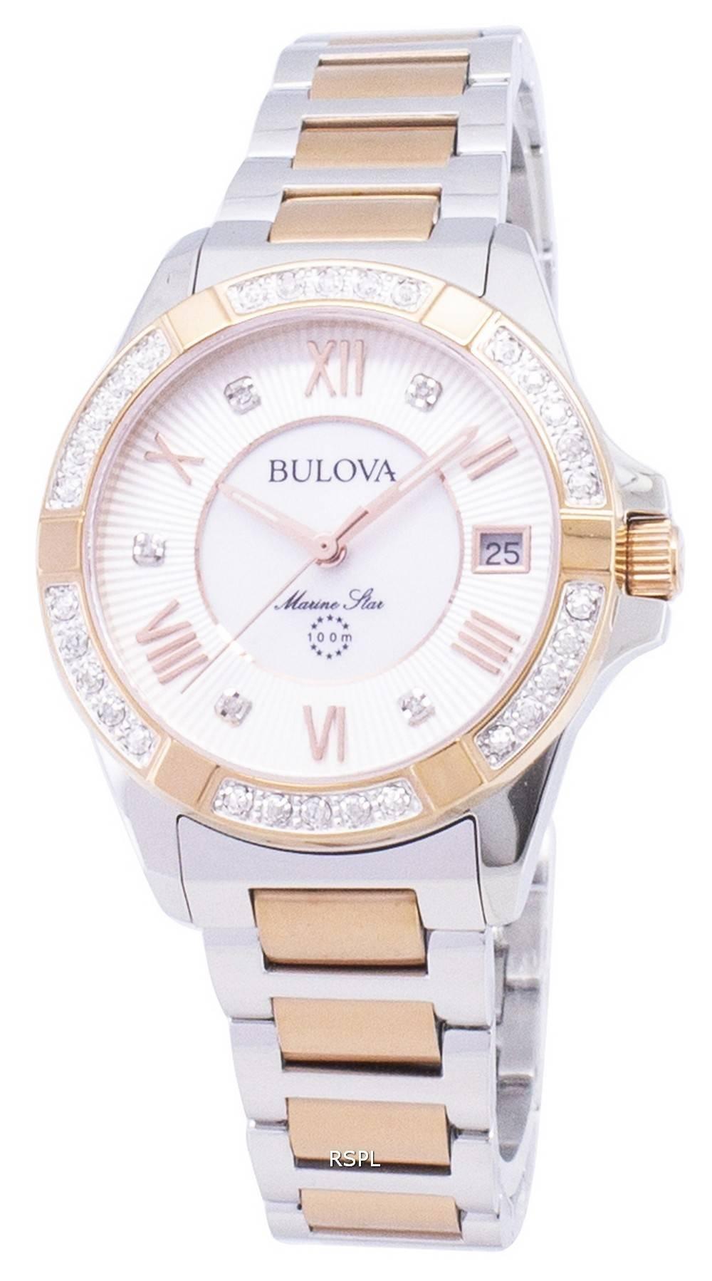 4605a7308 Bulova Marine Star 98R234 Diamond Accent Quartz Women's Watch Singapore