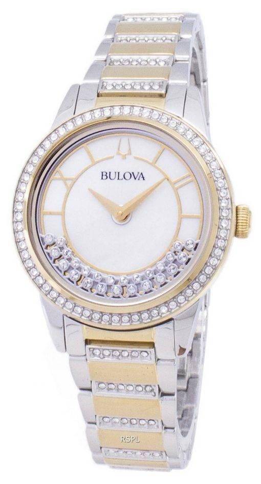 Bulova Crystal TurnStyle 98L245 Quartz Diamond Accents Women's Watch