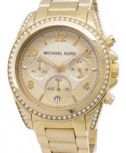 Michael Kors Golden Runway Glitz Chronograph MK5166 Womens Watch