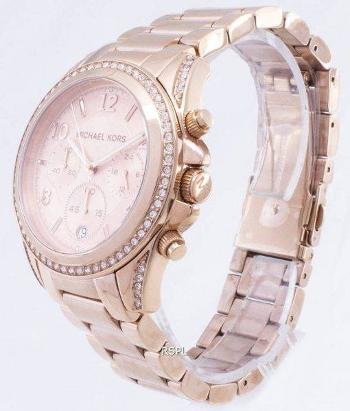 Michael Kors Rose Gold Plated Blair Glitz MK5263 Womens Watch