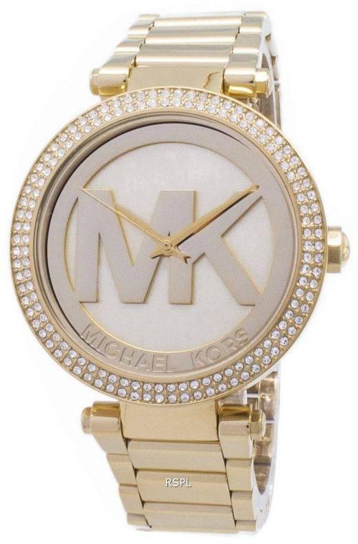 Michael Kors Parker Crystals MK Logo MK5784 Womens Watch