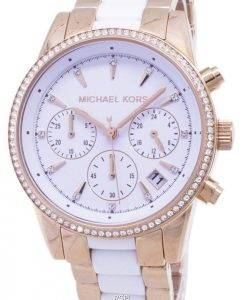Michael Kors Ritz Quartz Chronograph Crystal Accent MK6324 Women's Watch