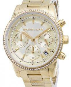 Michael Kors Ritz Chronograph Quartz Diamond Accents MK6356 Women's Watch