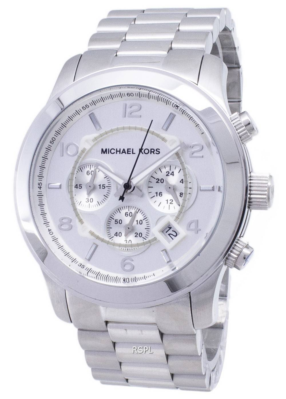 4ab53adddc2d Michael Kors Silver Runway MK8086 Mens Watch Singapore